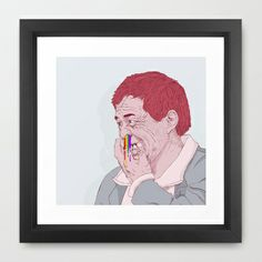 diggin for rainbow Framed Art Print by Yna Cruz - $35.00
