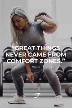 """Great things never came from comfort zones."" - Unknown #gymshark #motivation"