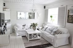 Love it!  Love all the white and all the textures.