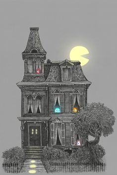 """""""Haunted By The 80's"""" - canvas print by Terry Fan"""