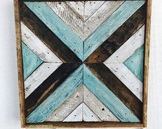 "12x12"" Rustic Wood Art - $41"
