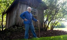 Maurice Sendak at his home in Connecticut, New England. He liked to portray himself as glum and cantankerous with no need of a social life. His idea of perfect company was his dog. Photograph: Tim Knox
