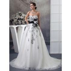 Custom Made Vestido De Novia 2017 Ivory Gray Tulle Applique Beading Black Sash Lace Wedding Dress Vestido De Casamento