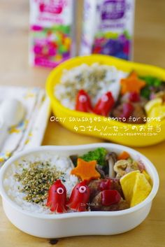 Octy sausages bento for sons