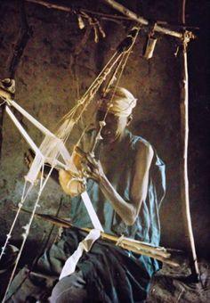 Africa   Fulani weaver. Burkina Faso    Scanned postcard;