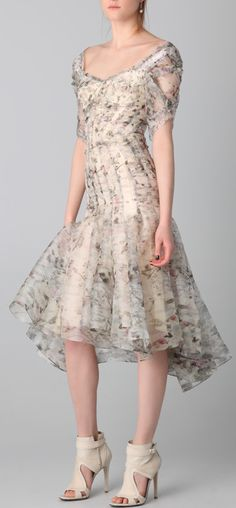 Silk floral dress / zac posen