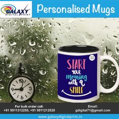 Customized Mug for personalized gifting!!  Place your bulk order now here at #GalaxyDigitalPrint.  Contact us at: gdigital71@gmail.com Customised Mugs, Mug Printing, Bulk Order, Digital Prints, Canning, Tableware, Dinnerware, Dishes, Home Canning