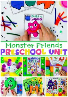 Looking for a fun, Preschool Monster Theme? These Play-Based Math and Literacy Centers and crafts are a huge hit with the kids. They love learning and playing with the hands-on centers and crafts. Check it out!