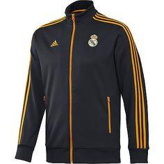 bb5f9cf428b 2013-14 Real Madrid Adidas Core Track Top (Black) Sweatshirt Jacke, Jersey