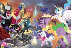 Exclusive Tony Fleecs SDCC Limited Edition Pony Heroes and Villains print!