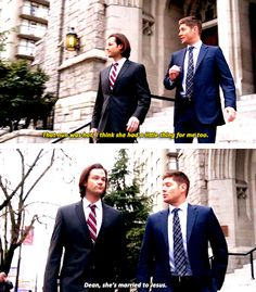 [gifset] 10x16 Paint It Black #SPN #Dean #Sam I love the married to Jesus line I laughed so hard!!!