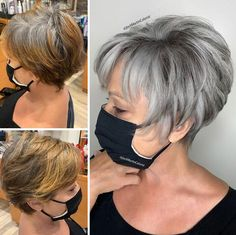Short Grey Hair, Short Hair With Layers, Short Hair Cuts For Women, Short Hairstyles For Women, Short Hair Styles, Grey Blonde Hair, Grey Hair Dye, Short Choppy Hair, Wig Hairstyles