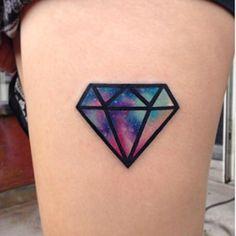 Diamond galaxy watercolour tattoo ♥️
