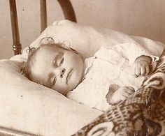 very sad - postmortem... When it was common to take these photos during victorian era.