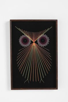 Thread owls! Would look beautiful over my couch