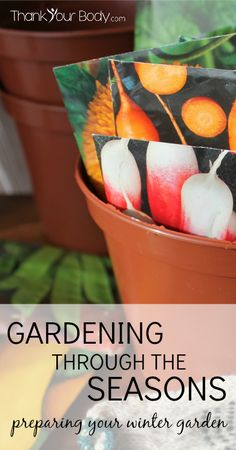 Learn how to garden in the winter without a green house. So cool!