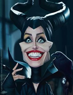 Maleficent (Angelina Jolie) • Para copia impresa/for a print: glowindesigns@gmail.com