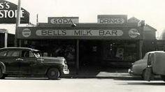Early days@ Bells Milk Bar Patton street Historical Pictures, Milk, Australia, Landscape, Street, Drinks, Bra Tops, Drinking, Scenery