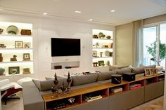 sala de tv parede de gesso - Google Search
