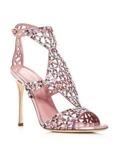 Swarovski Crystal Tresor Gladiator High Heel Sandals | Bloomingdale's