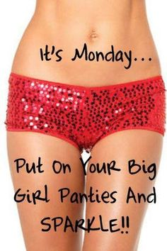 "Yes! This is exactly what I needed! Now I need to buy/make some and they will be my ""Monday Big Girl Panties""!!!!"