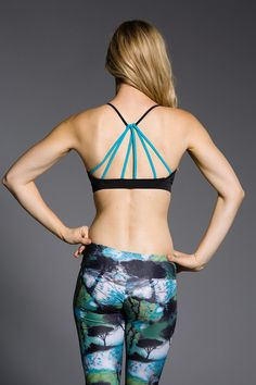 Try on our Teal Triangle Bra Top and give the people behind you something to stare at!