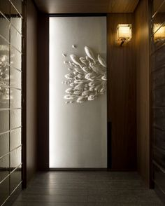 Andaz Tokyo: The City's Hottest View Intricate washi paper artworks by Tetsuya Nagata adorn each elevator at Andaz Tokyo – Photo: Courtesy of Andaz Tokyo Interior Walls, Interior Lighting, Interior And Exterior, Interior Design, Artwork Lighting, Lighting Design, Design Hotel, House Design, Ceiling Texture Types