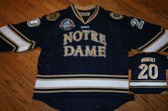 Notre Dame Fighting Irish Hockey Player Game Jersey #20 Nugent size 56 Reebok #Reebok #NotreDame