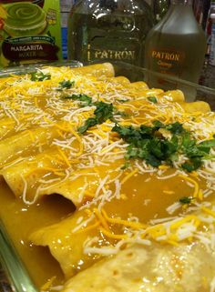 Ground Elk Green Chili Enchiladas with Patron - Easy Elk Recipes