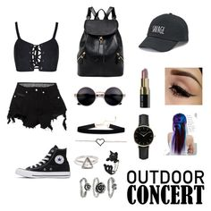"""I born to be ready"" by lostgirlwithstyle on Polyvore featuring County Of Milan, Converse, SO, ROSEFIELD, Bobbi Brown Cosmetics, Manic Panic NYC, 60secondstyle and outdoorconcerts"
