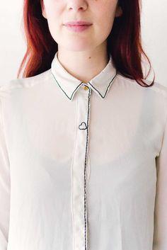 DIY: doodle embroidered shirt