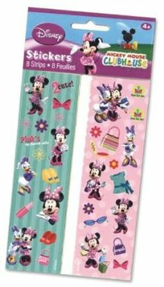 Minnie Mouse 8 Strips Stickers by AMSCAN *. $2.74. Includes one package of 8.. Minnie Mouse 8 Strips Stickers