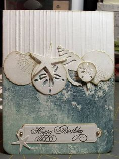 Ocean shells, birthday by cardmaker13 - Cards and Paper Crafts at Splitcoaststampers