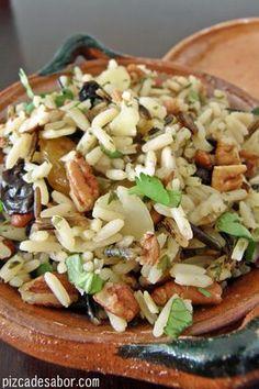 Arroz salvaje con frutos secos | http://www.pizcadesabor.com/2012/12/03/arroz-salvaje-con-frutos-secos/
