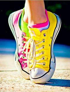 Different colors chucks............