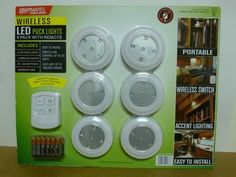 Lights for the American Girl dollhouse! Just picked up these puck lights at Costco - includes a wireless switch! My kids are going to love them.