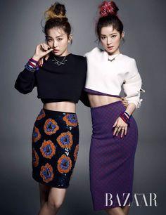 Red Velvet Irene and Seul Gi - Harper's Bazaar Magazine October Issue '14