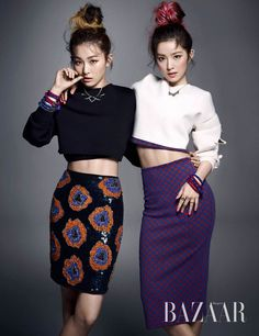 Red Velvet Irene and Seul Gi - Harper's Bazaar Magazine October Issue '14