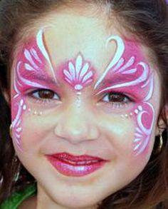 pink princess face painting