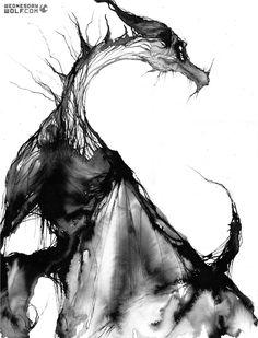 Watercolor Skyrim Dragon