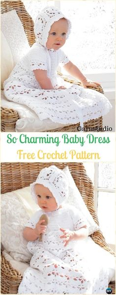 Crochet So Charm Baby Pattern Free Pattern – Crochet Girls Dress Free Patterns Source by diyhowtogroupie Crochet Spring Dresses, Crochet Dress Girl, Crochet Baby Dress Pattern, Baby Girl Crochet, Crochet Baby Clothes, Crochet Christening Patterns, Crochet Outfits, Crochet Toddler, Baby Pattern