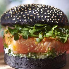 Saumon snacké en burger