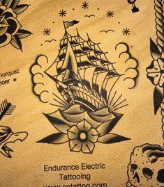 Amsterdam tattoo shop old school ship www.eetattoo.com