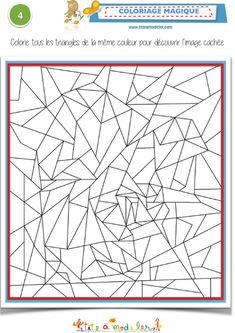 Magic Coloring with triangles - Color the triangles.