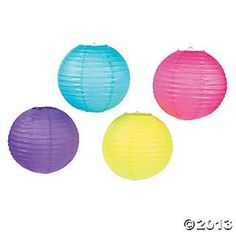 Bright Party Lanterns - Oriental Trading $15 for 12