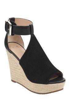 b7d47b728b2 Marc Fisher LTD - Allison Perforated Wedge Platform Sandal Suede Leather