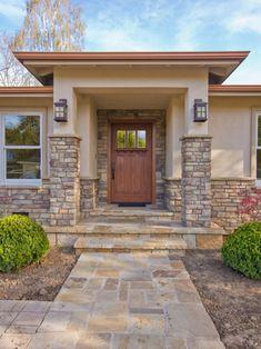 Exterior Paint Colors With Brown Brick 50 - Home Interior and Design Exterior Wall Design, Exterior Paint Colors For House, Front Door Design, Entrance Design, House Entrance, Paint Colors For Home, Entrance Ideas, Door Ideas, Porch Ideas