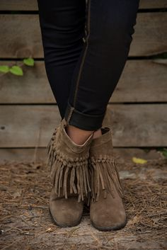 4f716717d72b  PRE-SALE  Macrame Fringe Boot - Khaki – Glamour Farms Fringe Boots Outfit