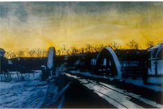"sundown eramosa river 11"" x 15"" micheal zarowsky watercolour on arches paper - private collection"