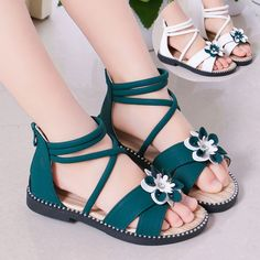 5 6 7 8 9 10 11 12 Years White Green Flower Girl Summer Gladiator Sandals For Girls Hollow Boots Sandals Princess Shoes New Baby Girl Party Dresses, Girls Formal Dresses, Baby Girl Romper, Baby Girl Princess, Princess Shoes, Cute Baby Girl Wallpaper, Christening Gowns Girls, Oasis Dress, Fashion Leaders